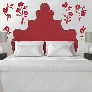 Shaped Headboard Flowers Wall Decal Shop Fathead For Art Cor
