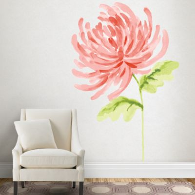 Martha Stewart Watercolor Chrysanthemum wall decal