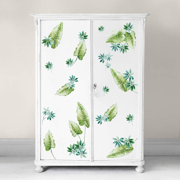 Tropical Leaves Wall Decor : Tropical leaves wall decal fathead? for art d?cor