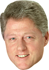 Bill Clinton Big Head Cutout