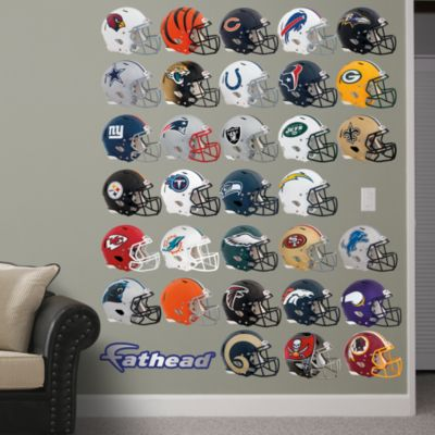 NFL Helmet Collection Fathead Wall Decal