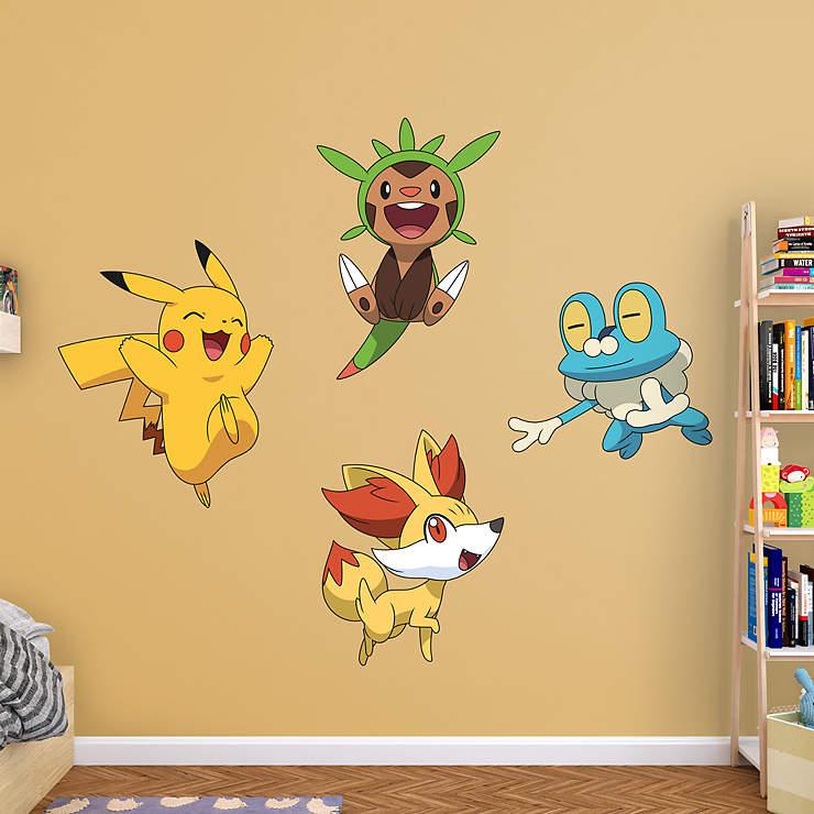 kalos first partner collection wall decal shop fathead for pok mon decor. Black Bedroom Furniture Sets. Home Design Ideas