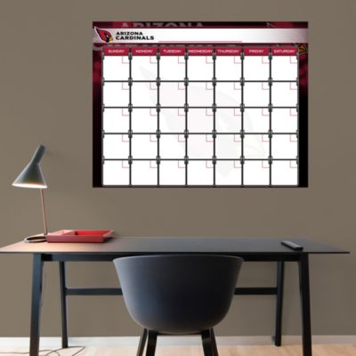 Arizona Cardinals 1 Month Dry Erase Calendar