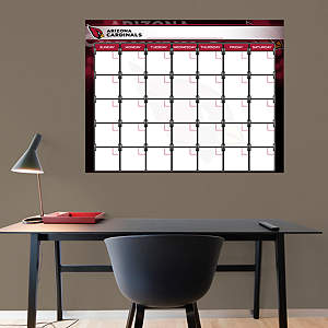 Arizona Cardinals 1 Month Dry Erase Calendar Fathead Wall Decal
