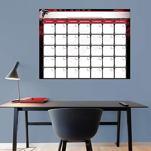 Atlanta Falcons 1 Month Dry Erase Calendar Fathead Wall Decal