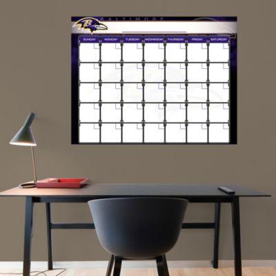 Baltimore Ravens 1 Month Dry Erase Calendar