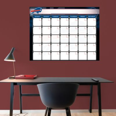 Buffalo Bills 1 Month Dry Erase Calendar Fathead Wall Decal