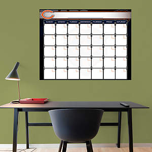 Chicago Bears 1 Month Dry Erase Calendar Fathead Wall Decal