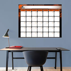 Cleveland Browns 1 Month Dry Erase Calendar Fathead Wall Decal