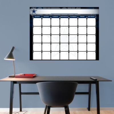 Dallas Cowboys 1 Month Dry Erase Calendar Fathead Wall Decal