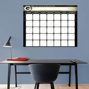 Green Bay Packers 1 Month Dry Erase Calendar Fathead Wall Decal