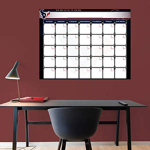 Houston Texans 1 Month Dry Erase Calendar Fathead Wall Decal