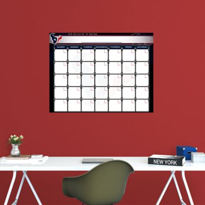 Houston Texans 1 Month Dry Erase Calendar