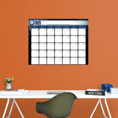 Indianapolis Colts 1 Month Dry Erase Calendar