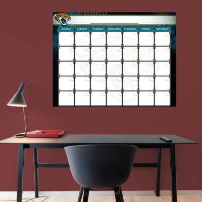 Jacksonville Jaguars 1 Month Dry Erase Calendar Fathead Wall Decal