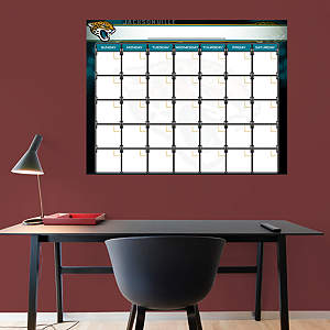 Jacksonville Jaguars 1 Month Dry Erase Calendar Fathead Wall Decal