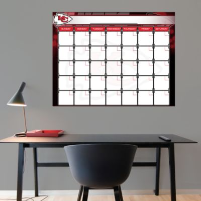 Kansas City Chiefs 1 Month Dry Erase Calendar