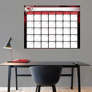 Kansas City Chiefs 1 Month Dry Erase Calendar Fathead Wall Decal