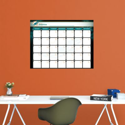 Miami Dolphins 1 Month Dry Erase Calendar