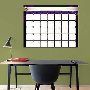 Minnesota Vikings 1 Month Dry Erase Calendar Fathead Wall Decal