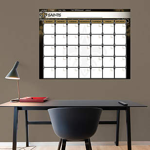 New Orleans Saints 1 Month Dry Erase Calendar