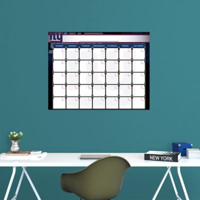 New York Giants 1 Month Dry Erase Calendar Fathead Wall Decal