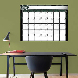 New York Jets 1 Month Dry Erase Calendar Fathead Wall Decal