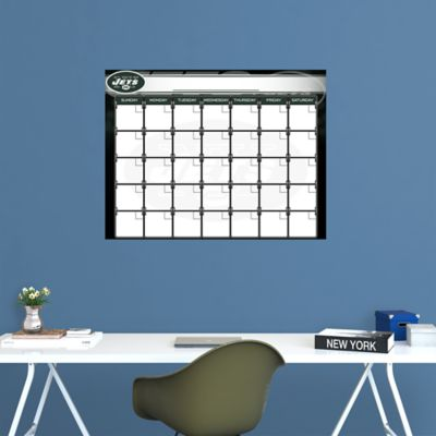 New York Jets 1 Month Dry Erase Calendar