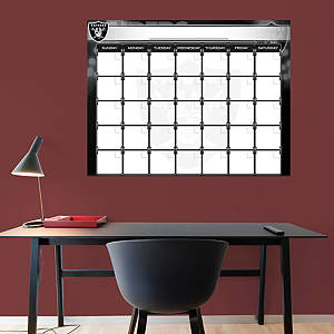 Oakland Raiders 1 Month Dry Erase Calendar Fathead Wall Decal
