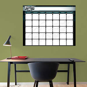 Philadelphia Eagles 1 Month Dry Erase Calendar Fathead Wall Decal