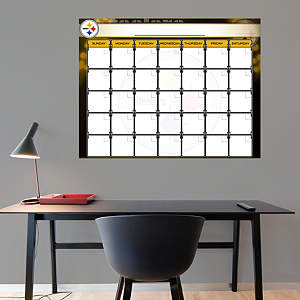 Pittsburgh Steelers 1 Month Dry Erase Calendar Fathead Wall Decal