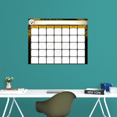 Pittsburgh Steelers 1 Month Dry Erase Calendar