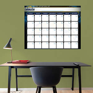 San Diego Chargers 1 Month Dry Erase Calendar Fathead Wall Decal
