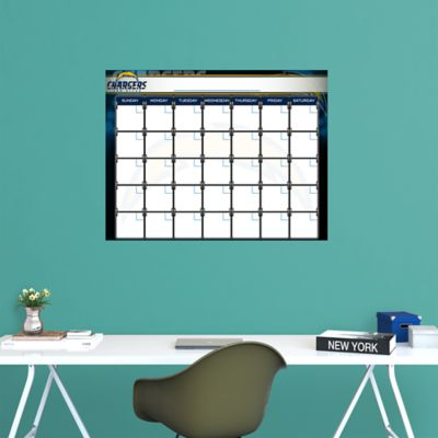 San Diego Chargers 1 Month Dry Erase Calendar