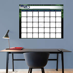 Seattle Seahawks 1 Month Dry Erase Calendar Fathead Wall Decal