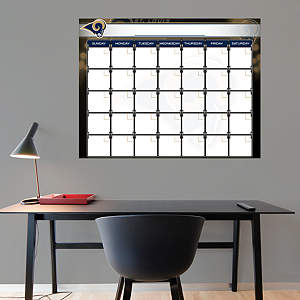 St Louis Rams 1 Month Dry Erase Calendar Fathead Wall Decal