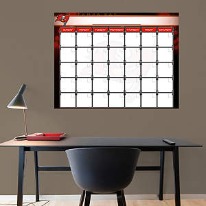 Tampa Bay Buccaneers 1 Month Dry Erase Calendar Fathead Wall Decal