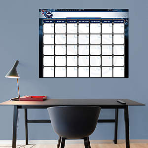 Tennessee Titans 1 Month Dry Erase Calendar Fathead Wall Decal
