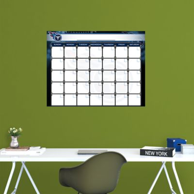 Tennessee Titans 1 Month Dry Erase Calendar