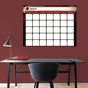 Washington Redskins 1 Month Dry Erase Calendar Fathead Wall Decal