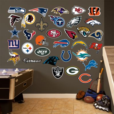nfl logo collection wall decal shop fathead 174 for nfl decor
