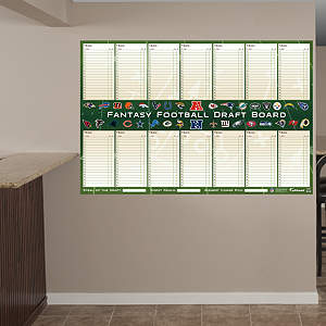Dry Erase Fantasy Football Draft Board from Fathead
