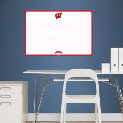 Wisconsin Badgers Dry Erase Board Fathead Wall Decal