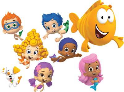 Bubble Guppies Collection Fathead wall decal