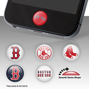 Boston Red Sox Fat Dots Stickers