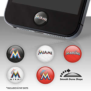 Miami Marlins Fat Dots Stickers