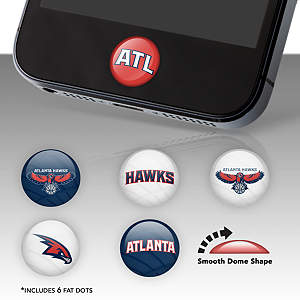 Atlanta Hawks Fat Dots Stickers