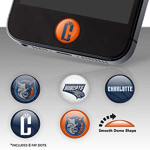 Charlotte Bobcats Fat Dots Stickers