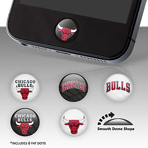 Chicago Bulls Fat Dots Stickers