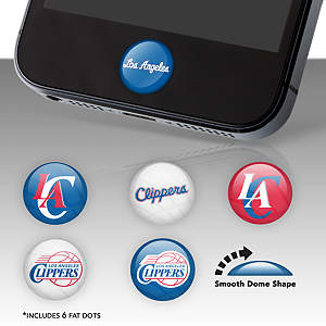 Los Angeles Clippers Fat Dots Stickers